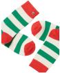 Women's Joules Striped Bed Socks - Green