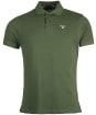 Men's Barbour Tartan Pique Polo Shirt - DUFFLE BAG/PINE