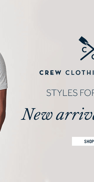 Shop new arrivals from Crew Clothing