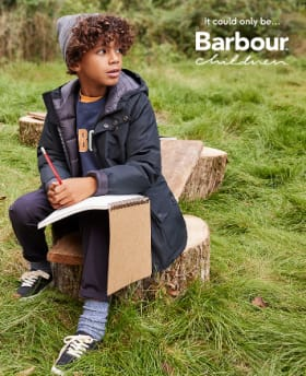 Shop Boy's Barbour Terrace Waterproof Jacket