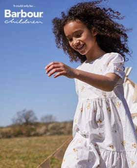 Shop Girl's Barbour Daisyhill Quilted Jacket